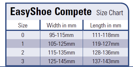 Sizing Chart Easyshoe Performance & Performance N/G