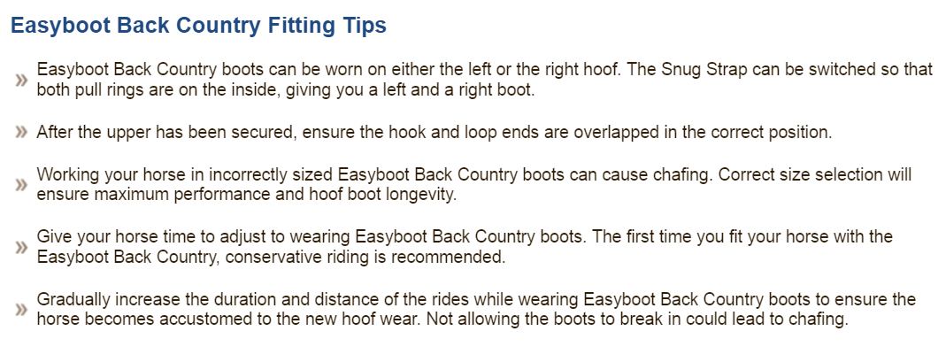 Fitting tips