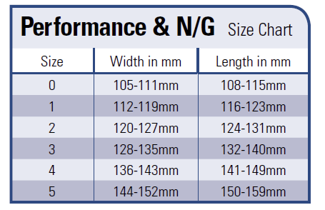 Sizing Chart EasyShoe Performance